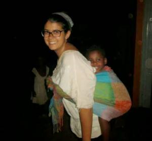 Alejandra con niño